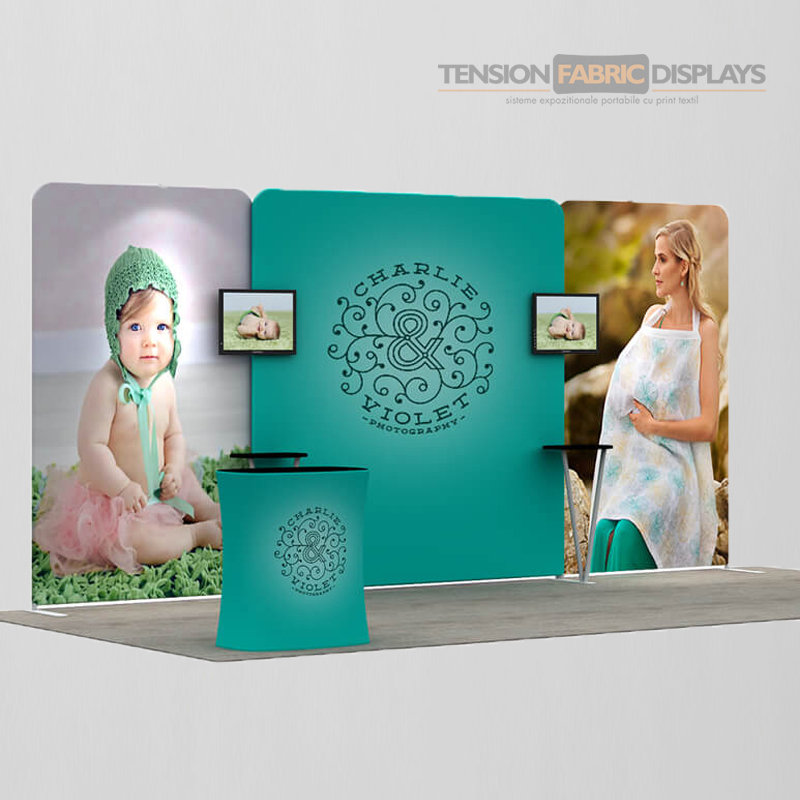 stand 3x6 tension fabric displays textil